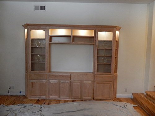 This Is A Curly Maple Entertainment Center.